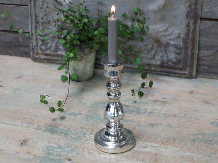Porta candele a specchio mercerizzato – grande