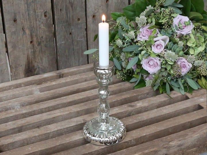 Porta candele a specchio mercerizzato – piccolo