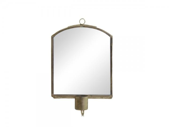 Specchio da parete con porta candele – Grande