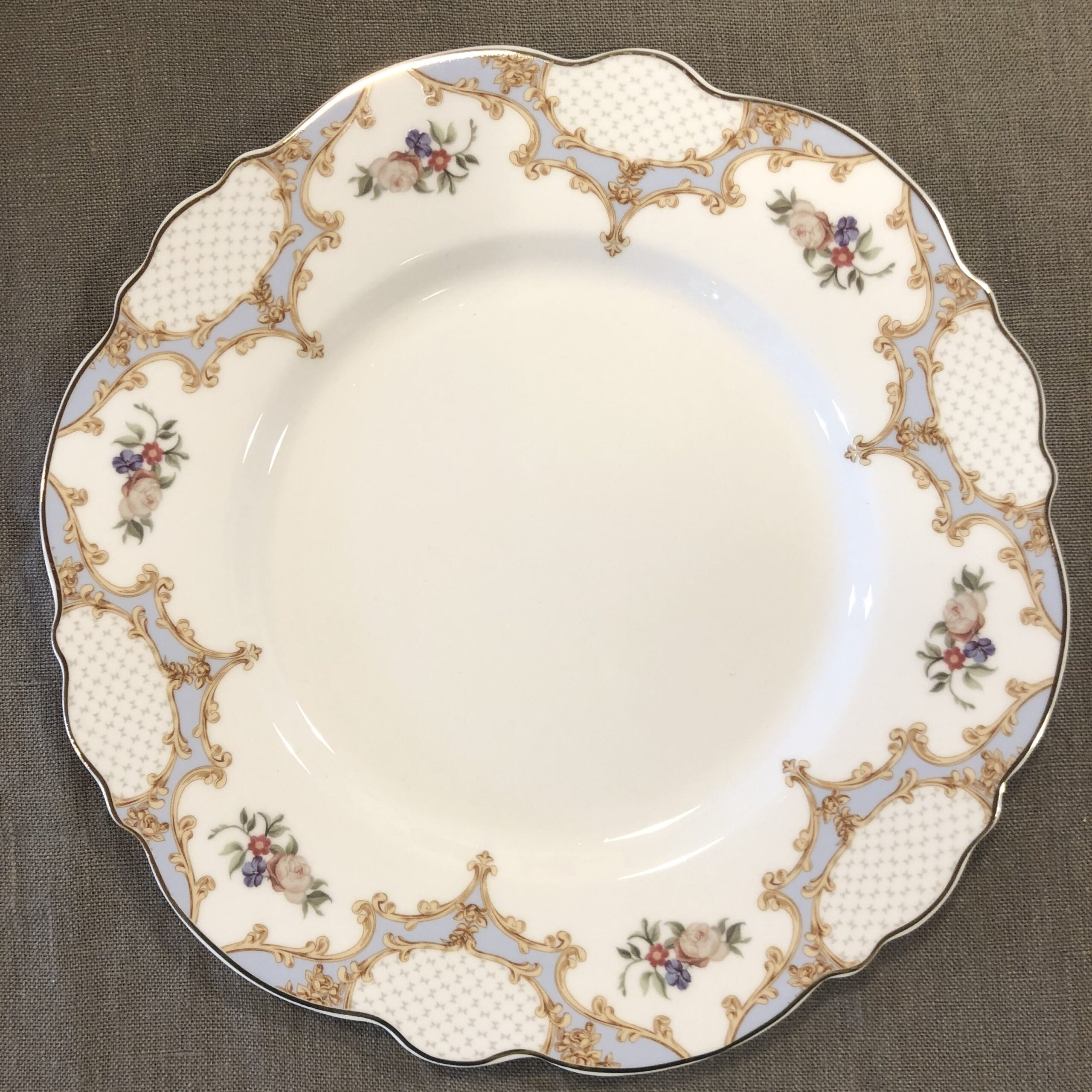 Piatto dessert in porcellana – Floreale