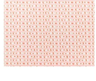 Canovaccio in cotone – Rosa con rose e strisce