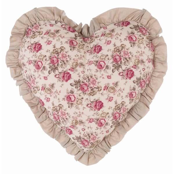 Cuscino cuore volant tela Blanc Mariclo