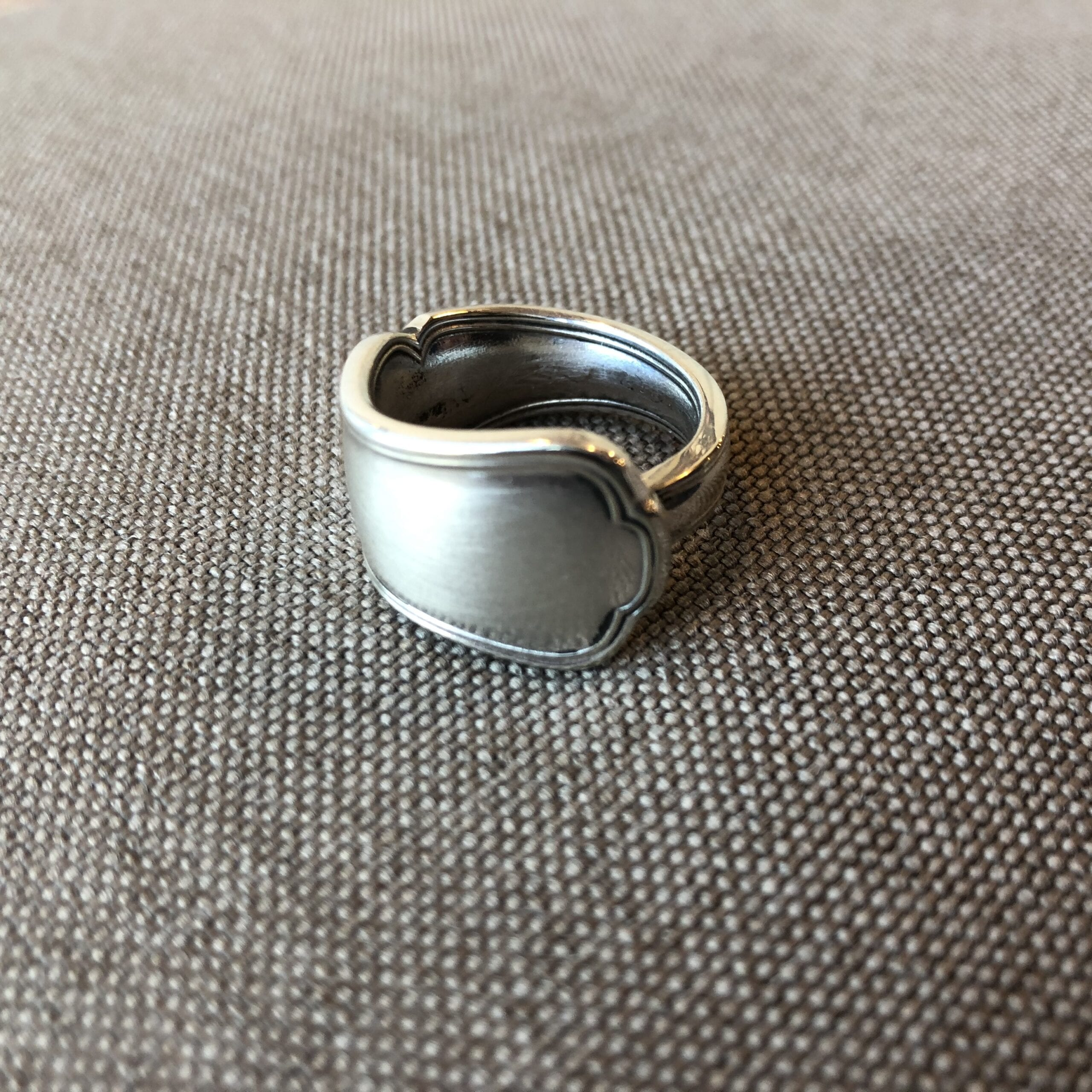 anello -manico di cucchiaino d'argento