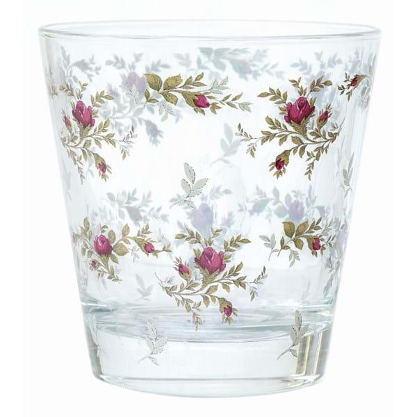 Bicchiere acqua decoro Moss Rose-Blanc mariclo