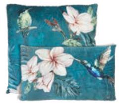 Cuscino rettangolare – Colibrí blu