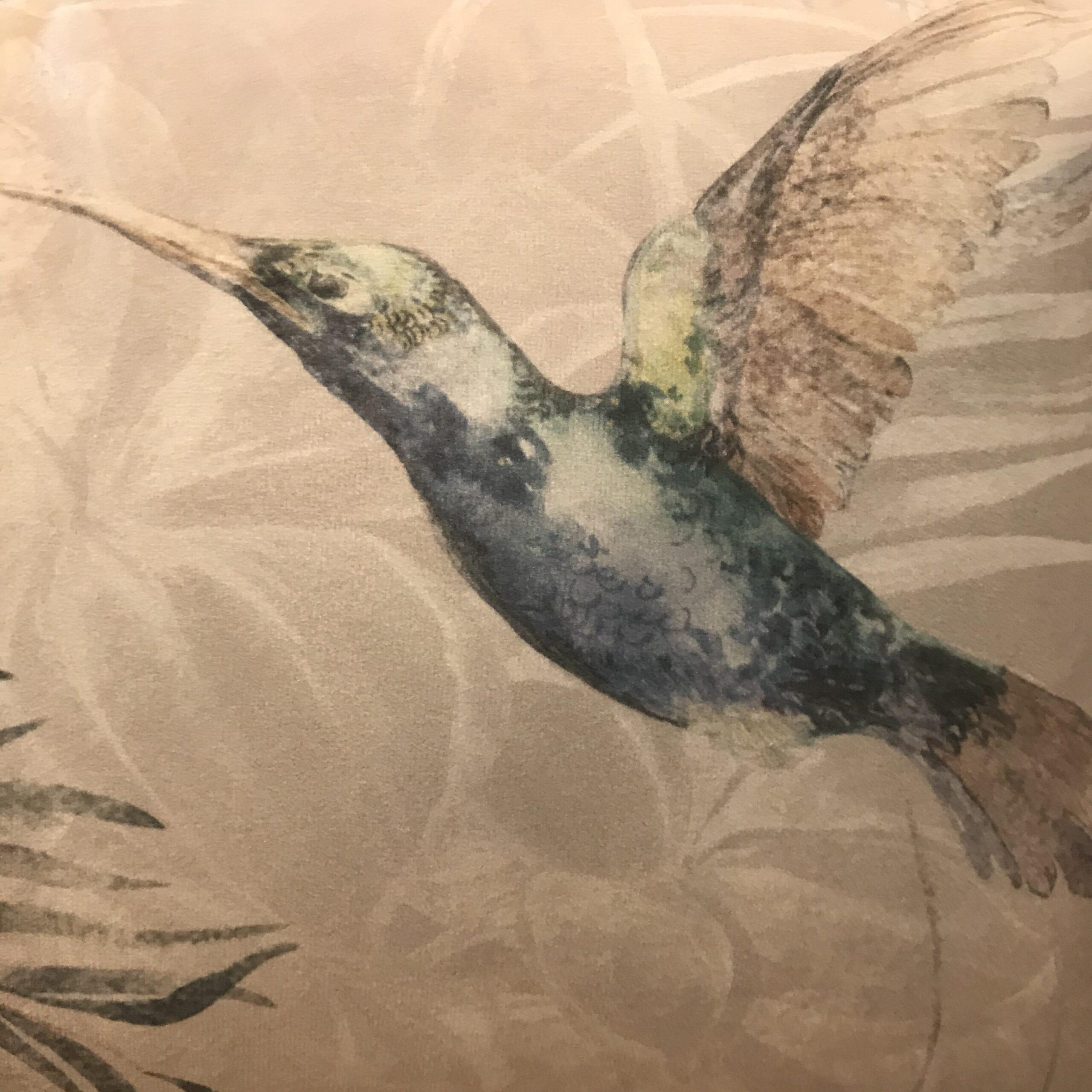 Cuscino rettangolare – Colibrí grigio