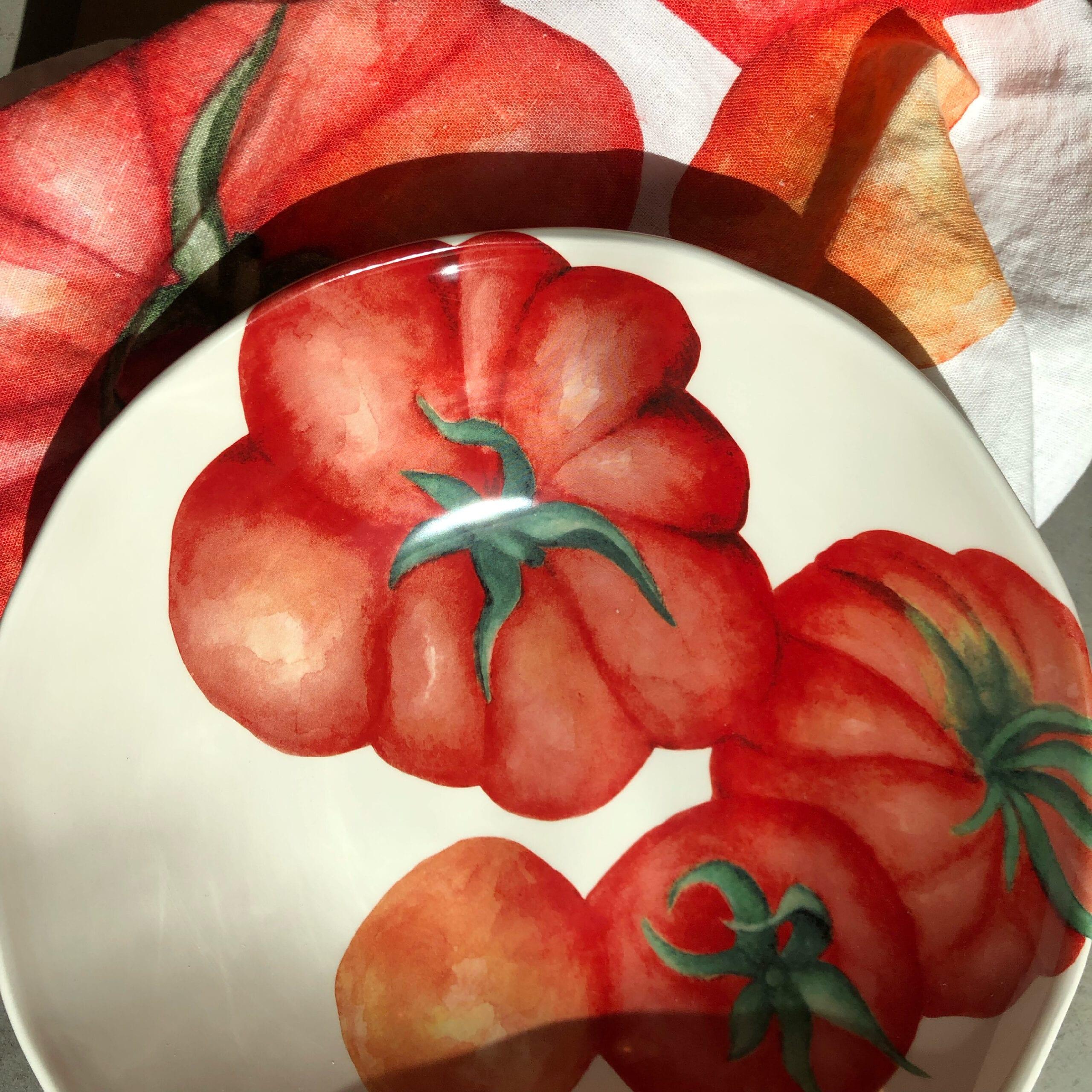 Insalatiera in ceramica decoro Pomodori