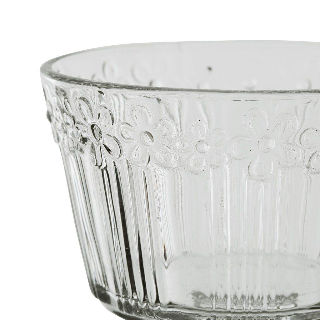 Coppa gelato in vetro trasparente