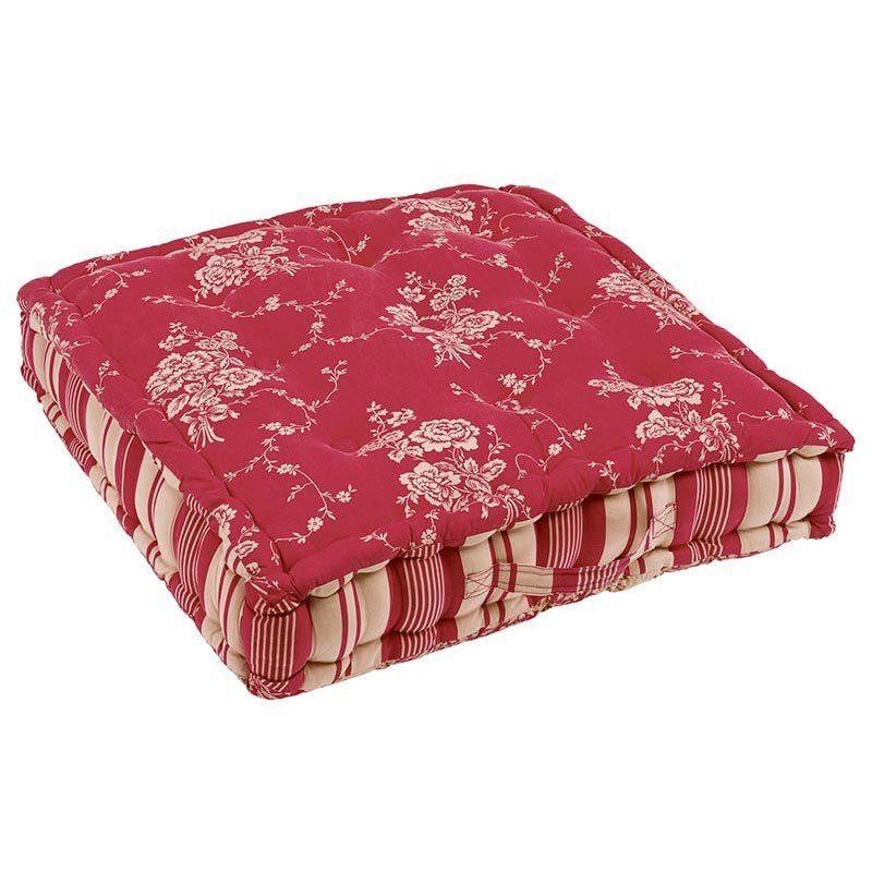 """Cuscino """"Materasso"""" in cotone rosso Margot"""
