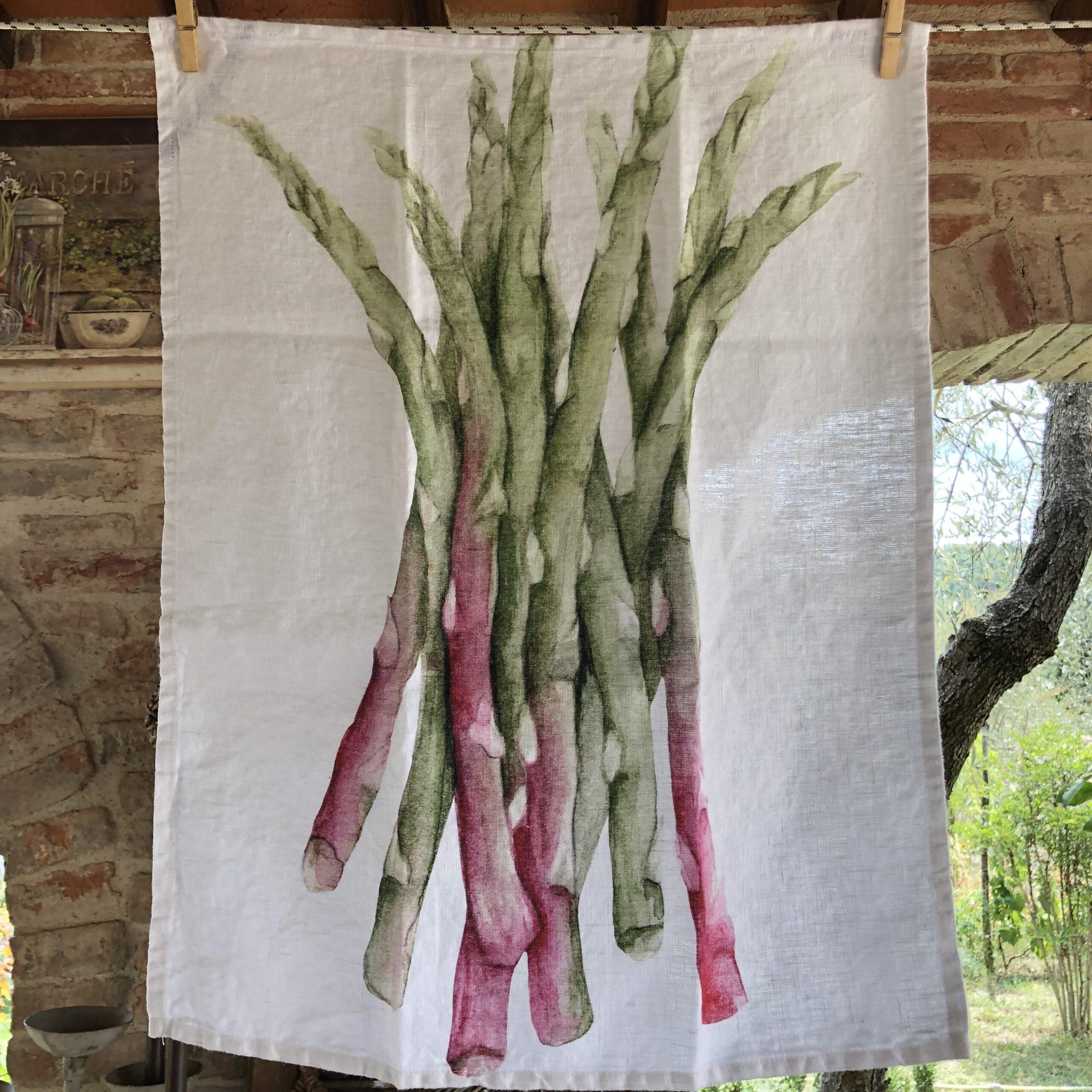 Canovaccio in 100% lino – Asparagi