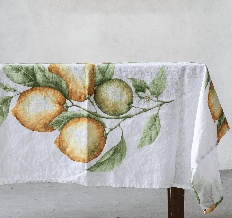 Tovaglia in lino Limoni – 150×260
